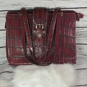 NWOT Wilsons leather crocodile shoulder briefcase